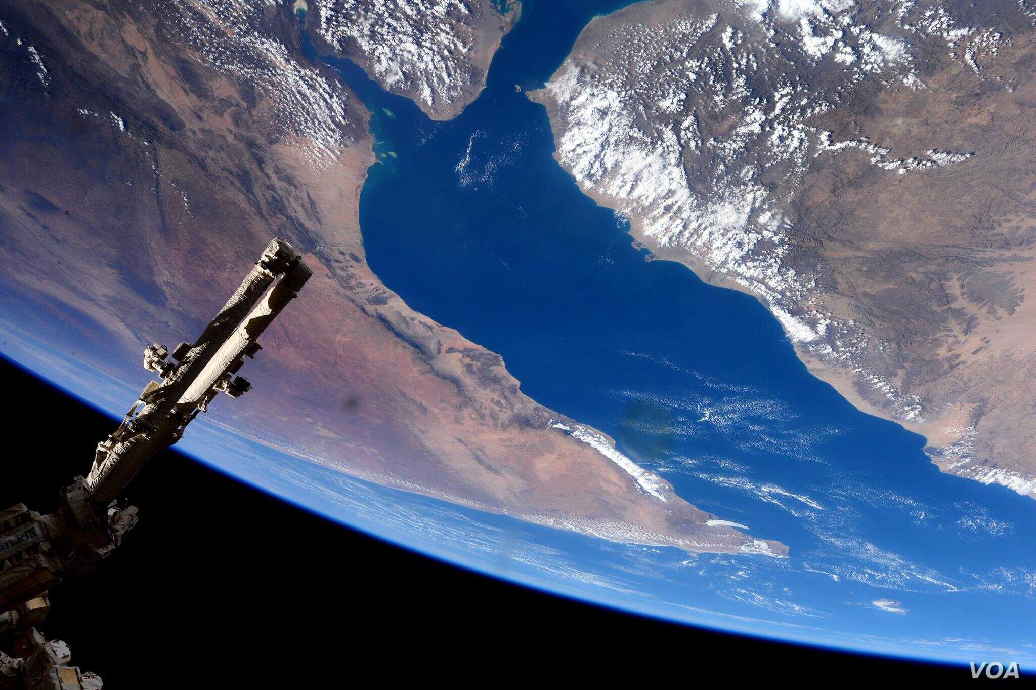 """European Space Agency astronaut Samantha Cristoforetti took this photograph from the International Space Station. Cristoforetti wrote, """"A spectacular flyover of the Gulf of Aden and the Horn of Africa. (Image Credit: NASA/ESA/Samantha Cristoforetti)"""