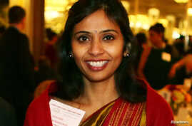 Devyani Khobragade, India's deputy consul general, attends the India Studies Stony Brook University fundraiser event in Long Island, New York, December 8, 2013. India urged the United States to withdraw a visa fraud case against Khobragade, one of it
