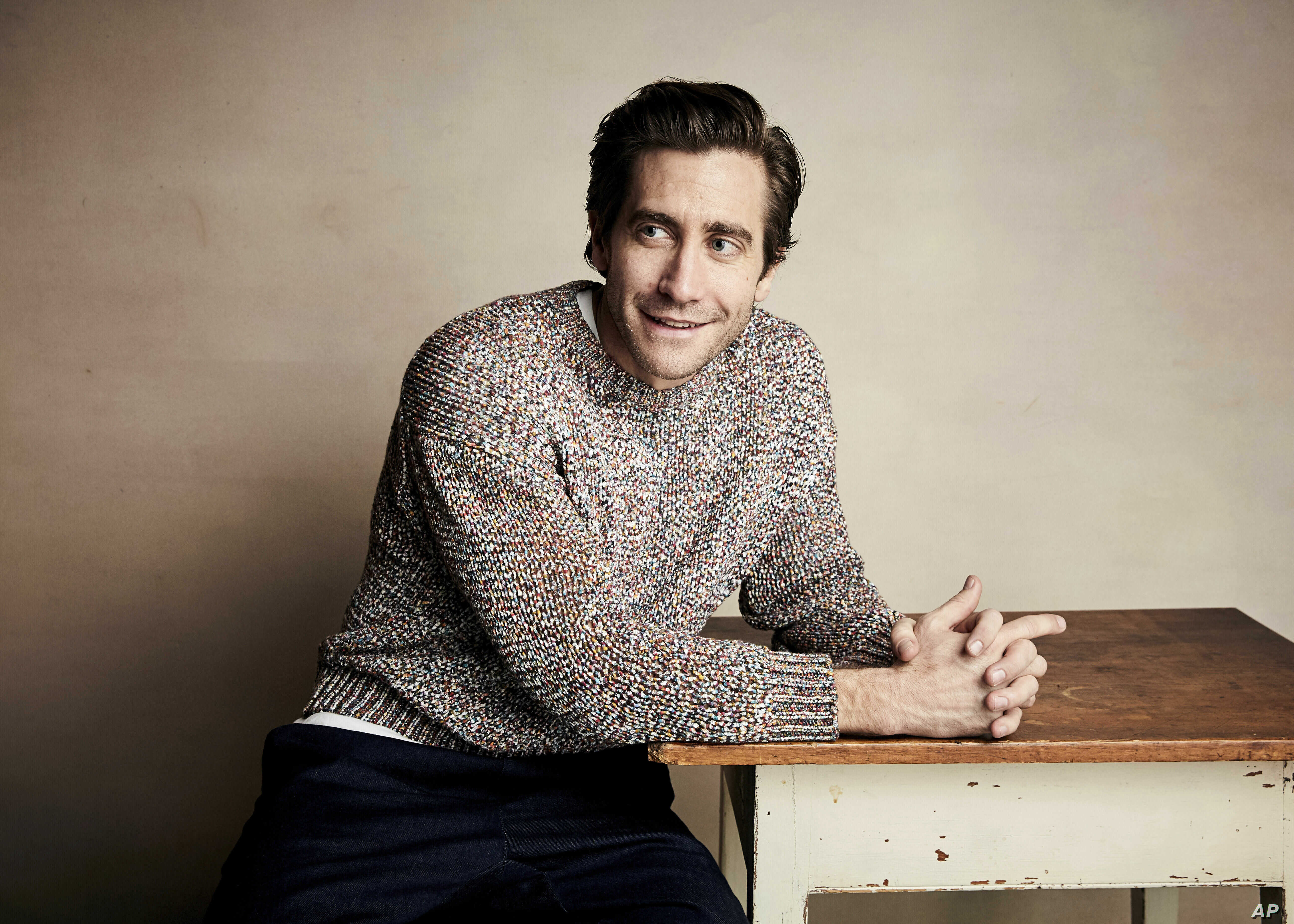 """Jake Gyllenhaal poses for a portrait to promote the film """"Velvet Buzzsaw"""" at the Salesforce Music Lodge during the Sundance Film Festival, Jan. 27, 2019, in Park City, Utah."""