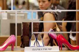 FILE - Shoes from the Ivanka Trump collection are displayed at a Lord & Taylor department store in New York, Aug. 23, 2012.
