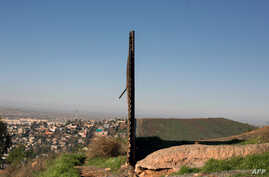 A view of the border fence between Mexico and the U.S., seen from the Mexican side, in Tijuana, northwestern Mexico, is shown Jan. 26, 2017.