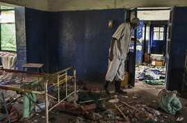 The tuberculosis ward at Malakal Teaching Hospital, South Sudan, Tuesday, July 1, 2014, where many of the murdered people were getting treatment. The hospital has been looted. Patients were shot in their hospital beds, medical and humanitarian staff