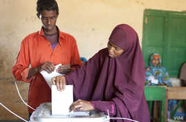 Woman casts her ballot in Somaliland municipal elections, Nov. 28, 2012. Credit: Kate Stanworth
