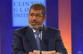 Egyptian President Morsi speaking at Clinton Global Initiative 2012 annual meeting (CGI)