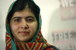 Malala Yousafzai, shown in file photo, 'stands up with those girls' abducted by Boko Haram militants in April.