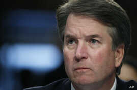 FILE - President Donald Trump's Supreme Court nominee, Brett Kavanaugh, testifies before the Senate Judiciary Committee on Capitol Hill in Washington, for the third day of his confirmation hearing to replace retired Justice Anthony Kennedy, Sept. 6,