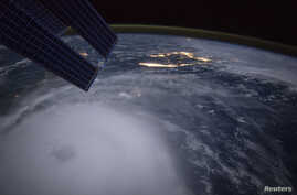 Hurricane Joaquin is seen over the Bahamas in this handout photo provided by NASA and taken by Astronaut Scott Kelly from the International Space Station.