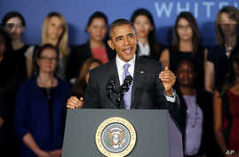 President Barack Obama speaks during his visit to Valencia College in Orlando, Florida, March 20, 2014.