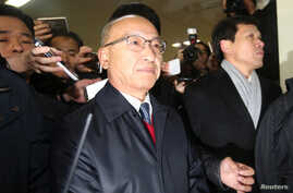The National Pension Service (NPS) Chairman Moon Hyung-pyo is summoned to the Independent Counsel Team in Seoul, South Korea, December 27, 2016.