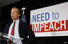 Billionaire investor and Democratic activist Tom Steyer speaks during a news conference where he announced his decision not to seek the 2020 Democratic presidential nomination, at the Statehouse in Des Moines, Iowa, Jan. 9, 2019.