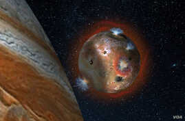 Artist's concept of the atmospheric collapse of Jupiter's
