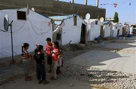 Syrian children at refugee camp in the eastern town of Marj, Bekaa valley, Lebanon, June 29, 2014.