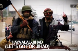 """Screen grab from the ISIL produced video """"Let's Go To Jihad."""""""