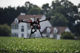 (File) Drone demonstration at a farm and winery in Cordova, Maryland.
