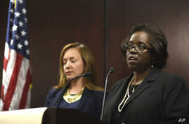 Special prosecutor Patricia Brown-Holmes, right, speaks during a news conference on June 27, 2017 in Chicago.