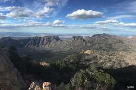 The entire Chisos mountain range, including a large swath of the Chihuahuan Desert, is contained in Big Bend National Park in southwest Texas.