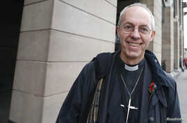 Justin Welby, the Bishop of Durham, walks through Westminster in London November 8, 2012.