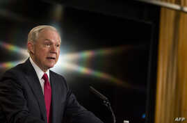 U.S. Attorney General Jeff Sessions delivers remarks at the Justice Department's 2017 African American History Month Observation at the Department of Justice, Feb. 28, 2017, in Washington, D.C.