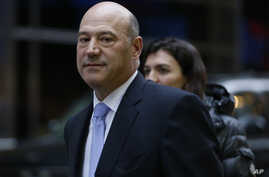 FILE - Then-Goldman Sachs Chief Operating Officer Gary Cohn leaves Trump Tower in New York, Dec. 13, 2016.