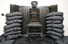 FILE - The firing squad execution chamber at the Utah State Prison in Draper, Utah.