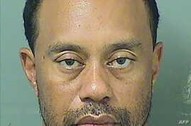 This booking photo obtained May 29, 2017 courtesy of the Palm Beach County Sheriff's Office, shows Tiger Woods.