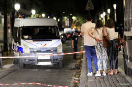 Police secures the area after seven people were wounded in knife attack downtown Paris, France, Sept. 10, 2018.