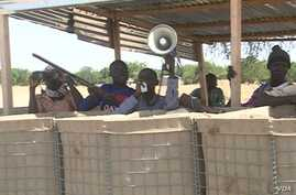 Self defense groups on duty in Mora. (ME Kindzeka for VOA)