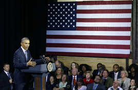 President Barack Obama speaks during an event at the East End Family Resource Center in Charleston, West Virginia, Oct. 21, 2015.