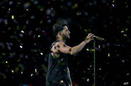 Colombian singer Maluma performs during the Viña del Mar I