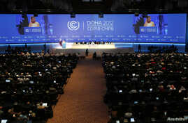 A view of the opening ceremony of the UN Framework Convention on Climate Change (UNFCCC) in Doha November 26, 2012.
