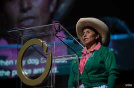 Maxima Acuna, a Peruvian farmer, mother of four and grandmother, won the Goldman Environmental Prize for Latin America. (Courtesy photo: Goldman Environmental Prize)