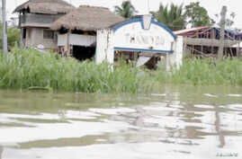 Flooding is seen in Bato, Camarines Sur, Philippines Jan. 1, 2019 in this still image from social media obtained Jan. 2, 2019.