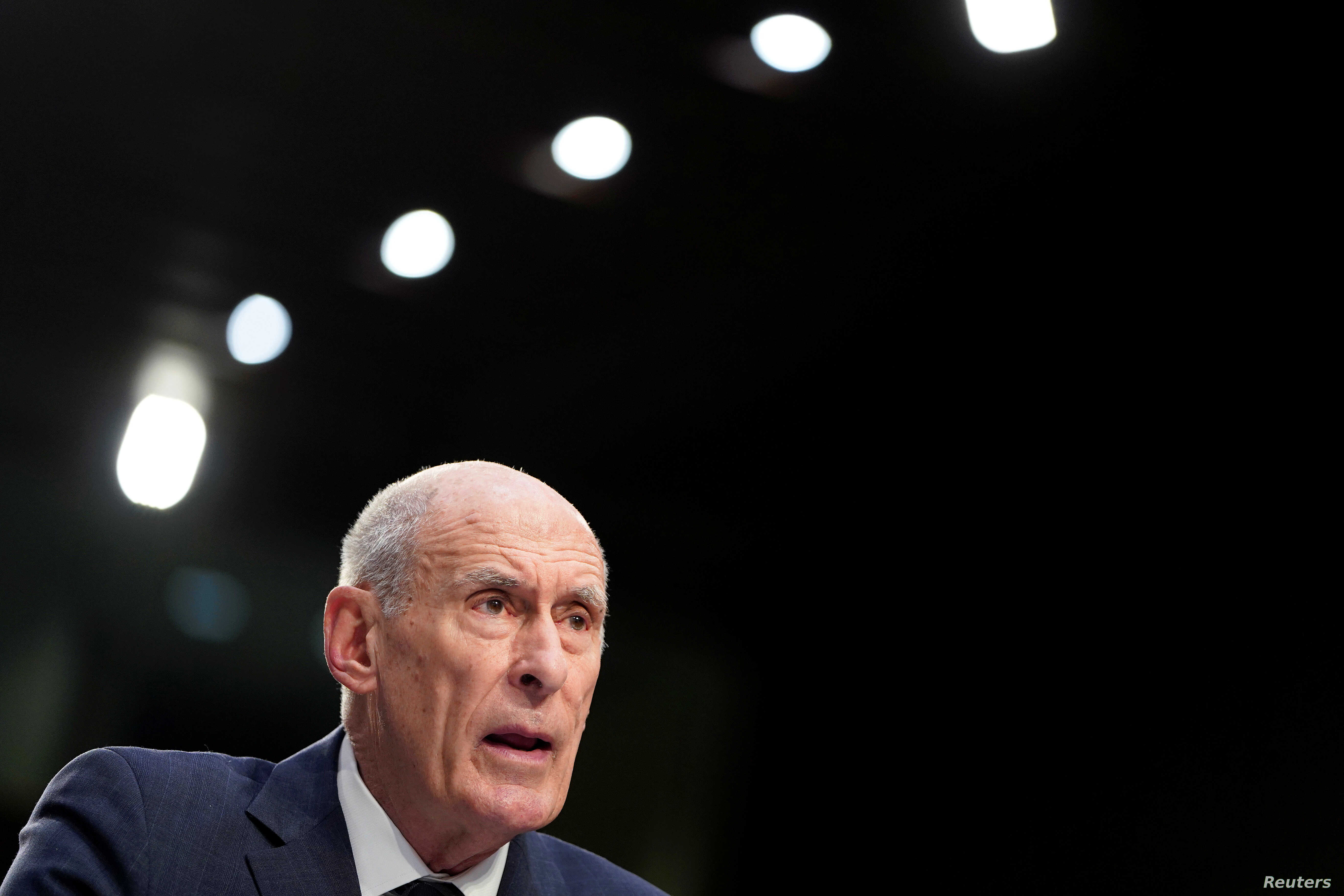 Director of National Intelligence Dan Coats testifies before the Senate Intelligence Committee hearing about worldwide threats, on Capitol Hill, in Washington, Jan. 29, 2019.