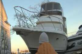 Superstorm Sandy Beaches Boats Along New Jersey Shore