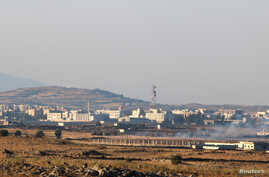 A general view shows Baath city, bordering the Israeli-occupied Golan Heights, Syria June 24, 2017.