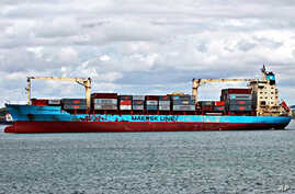 The U.S.-flagged Maersk Alabama, leaving the Port of Mombasa, Kenya (file photo - April 22, 2009)