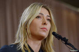 Maria Sharapova announces that she failed a drug test after the Australian Open, during a news conference in Los Angeles, March 7, 2016. (J. Kamin-Oncea/USA Today Sports)