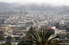 A general view shows buildings in the central business district of Eritrea's capital Asmara, Feb. 16, 2016.