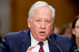 Thomas Shannon, U.S. undersecretary of state for political affairs, testifies about recent Iranian actions and implementation of the nuclear deal.at a Senate Foreign Relations Committee hearing on Capitol Hill in Washington, April 5, 2016.