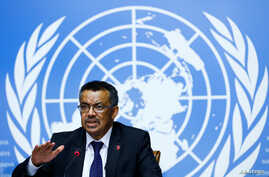 Newly elected Director General of the World Health Organization (WHO) Tedros Adhanom Ghebreyesus attends a news conference at the United Nations in Geneva, Switzerland, May 24, 2017.