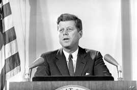 President John F. Kennedy reports to nation on Cuban missile crisis Nov. 2, 1962