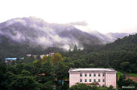 FILE - Part of Kumgang mountain is seen in this picture taken from Mount Kumgang hotel, Mt. Kumgang, North Korea.