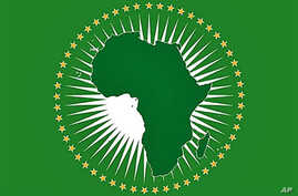 A handout file photo released by the African Union in Addis Ababa shows the AU flag