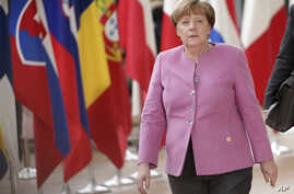 German Chancellor Angela Merkel arrives for an EU summit at the Europa building in Brussels on Thursday, March 9, 2017.