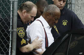 Bill Cosby departs after his sentencing hearing at the Montgomery County Courthouse, Sept. 25, 2018, in Norristown, Pennsylvania.