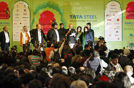 Organizers announce the cancellation of a televised speech by British-Indian author Salman Rushdie at the annual Literature Festival in Jaipur, capital of India's desert state of Rajasthan January 24, 2012