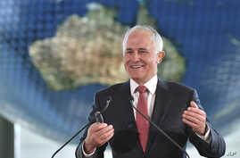 FILE - Australian Prime Minister Malcolm Turnbull delivers a speech in Tokyo, Japan, Dec. 18, 2015. Turnbull will meet with U.S. President Barack Obama Tuesday at the White House.