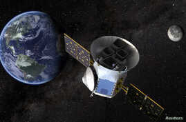 TESS, the Transiting Exoplanet Survey Satellite, is shown in this conceptual illustration obtained by Reuters on March 28, 2018.  NASA sent TESS into orbit from the Kennedy Space Center in Florida aboard a SpaceX Falcon 9 rocket April 18, 2018, on a