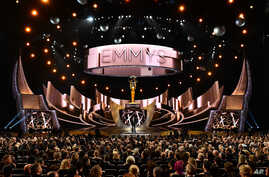 Host Jimmy Kimmel speaks at the 68th Primetime Emmy Awards on Sunday, Sept. 18, 2016.