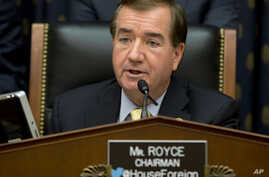 FILE -  House Foreign Affairs Committee Chairman Ed Royce, R-Calif. speaks on Capitol Hill in Washington.